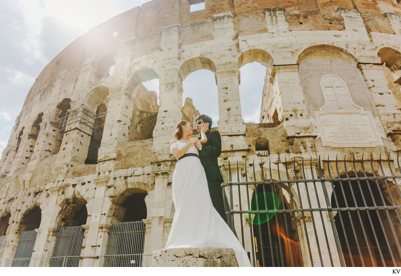 pre wedding photo Colosseum fashion portrait HM
