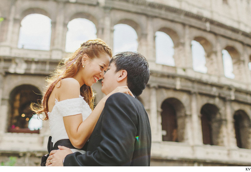 Colosseum Rome pre wedding photo shoot