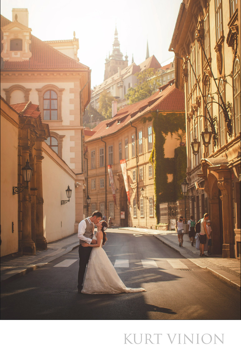 Prague Castle pre wed photos