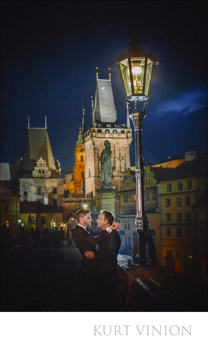 same sex portraits Prague Charles Bridge