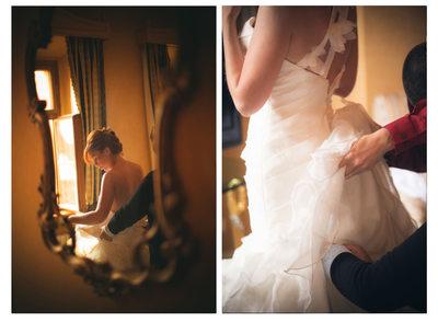 Kimberly's wedding preparation at Prague Alchymist