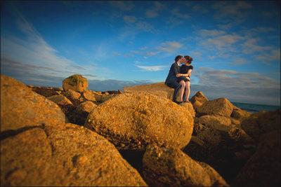 modern style engagement photographers in Ireland