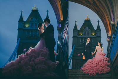 London Tower Bridge pre-wedding
