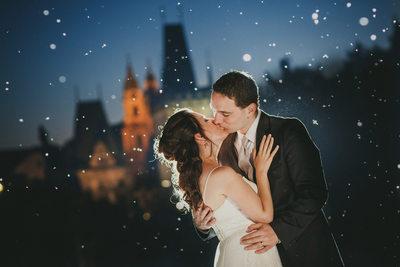 romantic wedding day portraits from Prague