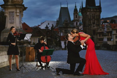 Charles Bridge marriage proposal photos