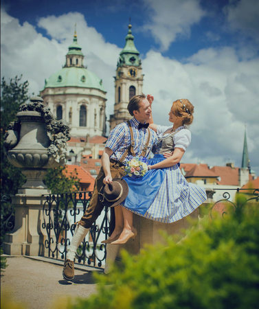 A German themed wedding at Vrtba Garden in Prague