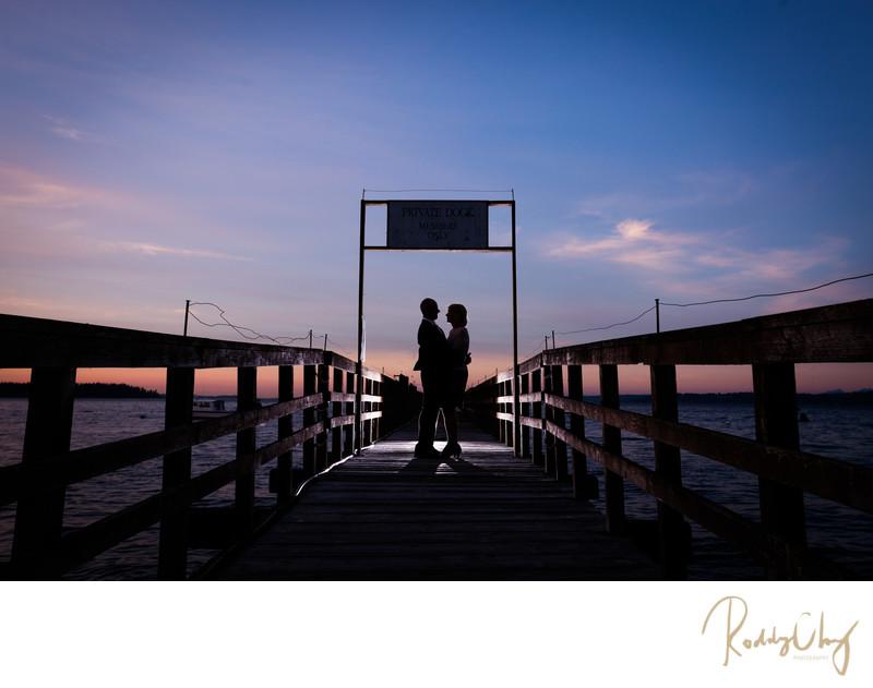 Bainbridge Waterfront Country Club Silhouette Portrait
