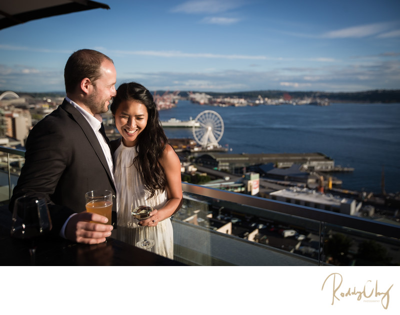 Seattle Rooftop Engagement Session