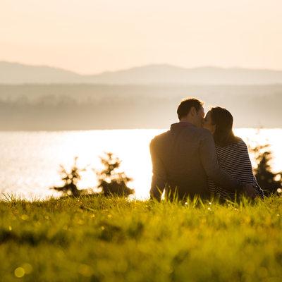 Sunset Engagement Session Couple