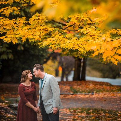 Capitol Hill Fall Engagement Session