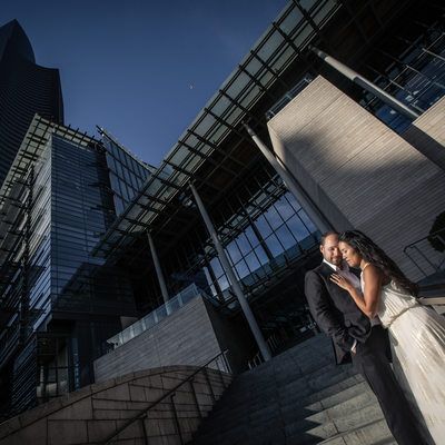 Astonishing Downtown Engagement Picture