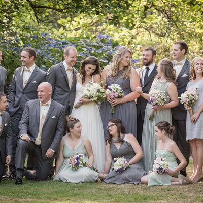 Elegant Bridal Party Wedding Picture