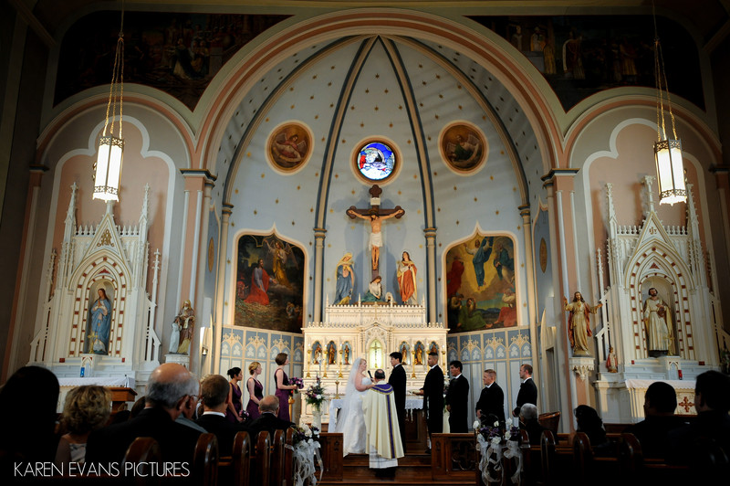 holy cross catholic church wedding photography