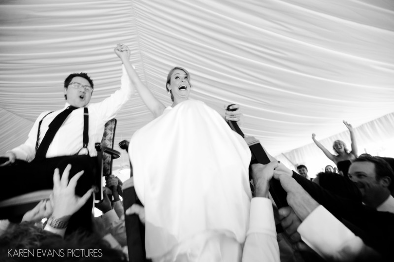 The Hora at Jewish Wedding at The Lakes Westerville