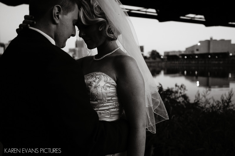 Bride and Groom Portrait at North Bank Park