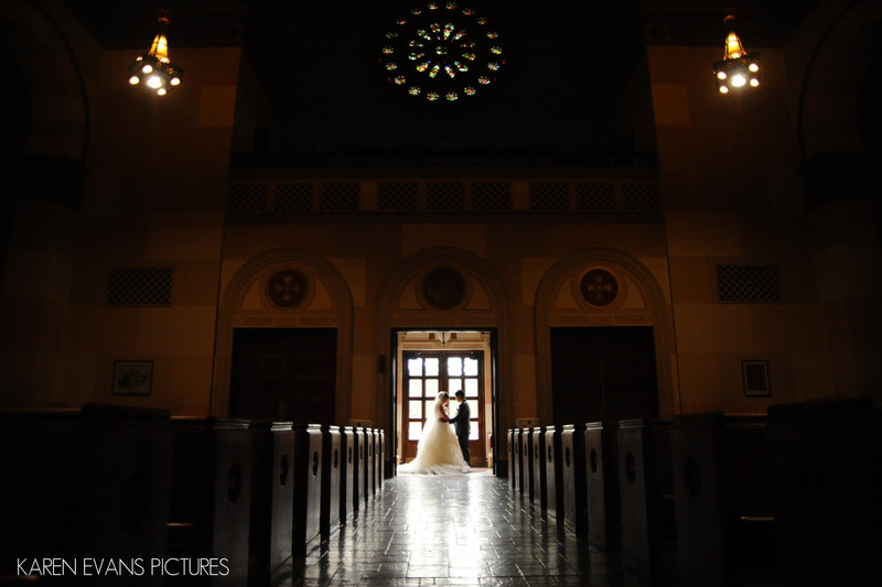 Holy Name Church Bride and Groom Portraits