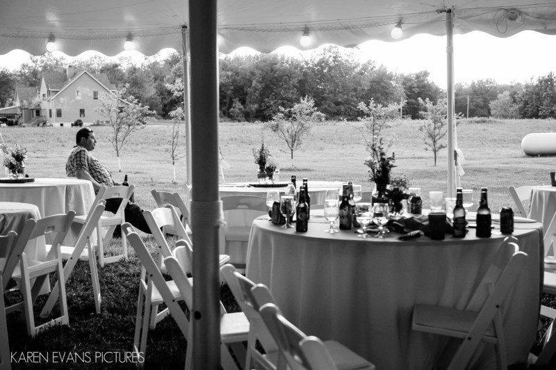 Backyard Tent Wedding in Fredericktown Ohio