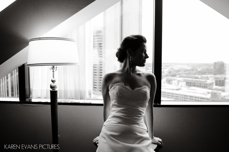 Bridal Portrait Hyatt Regency Downtown Columbus