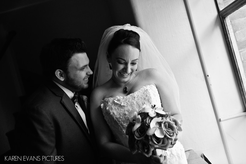 Bride and Groom Portraits at The Columbus Athenaeum