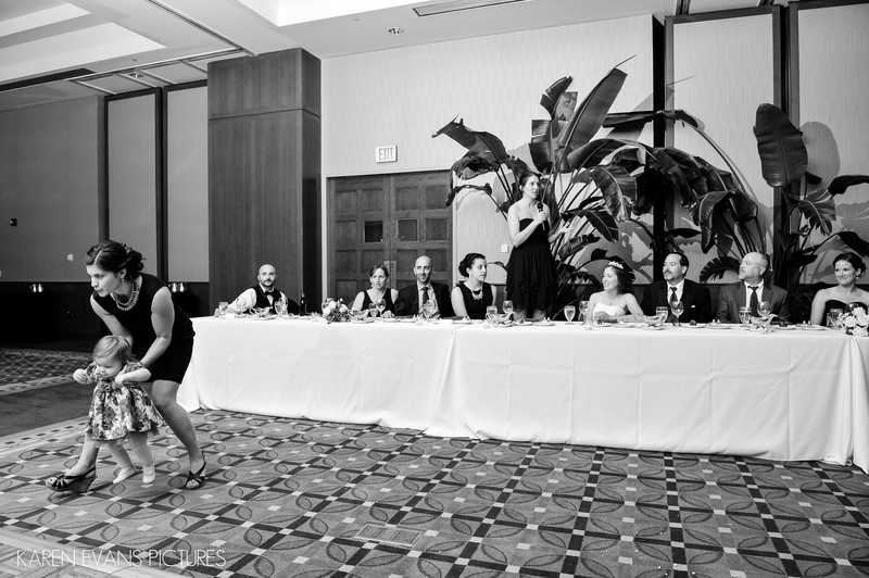 Funny Kids During Wedding Toasts at The Blackwell