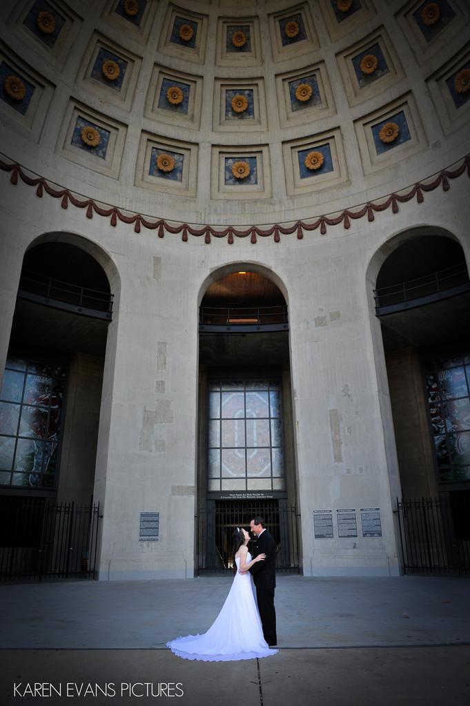 wedding photography at ohio stadium