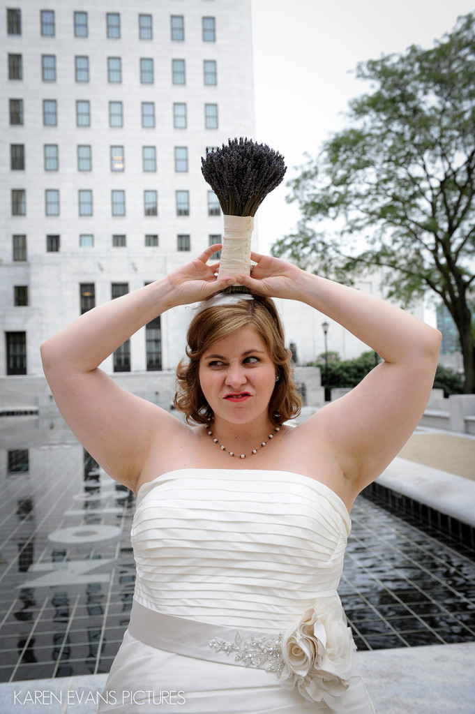 Funny Bridal Portrait Columbus Ohio
