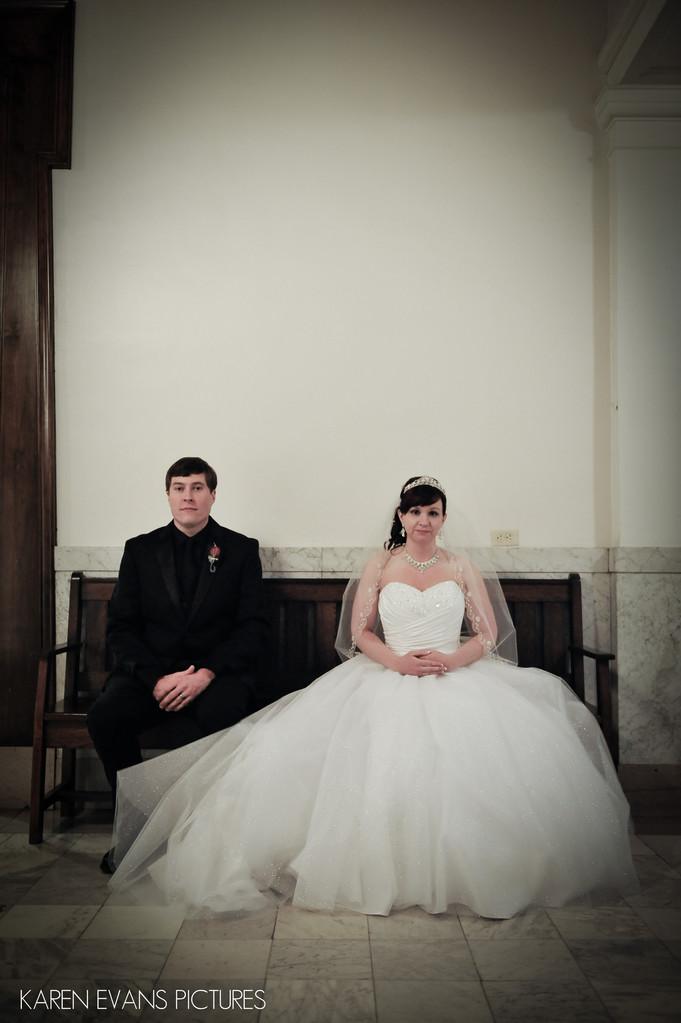 Wedding Portraits in The Columbus Athenaeum