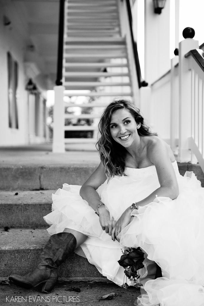 Bridal with Cowboy Boots at The Lakes Wedding