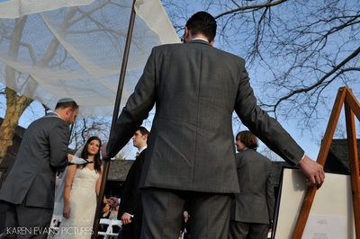 The Darby House Jewish Wedding Ceremony Photos