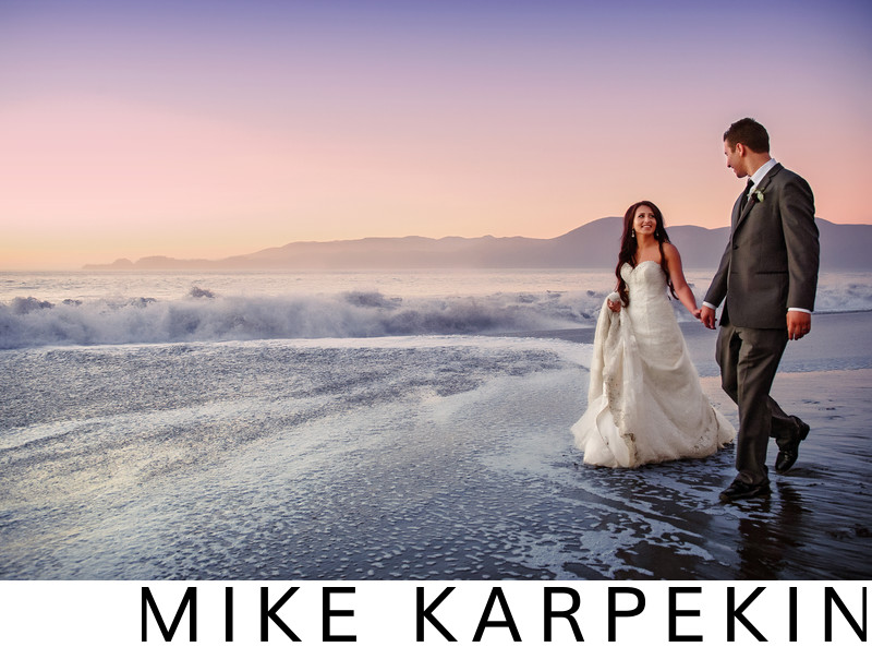 Baker Beach Sunset Wedding Photos