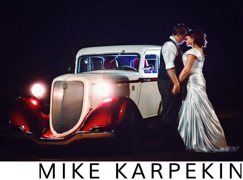 Sacramento Retro Car Wedding Photos