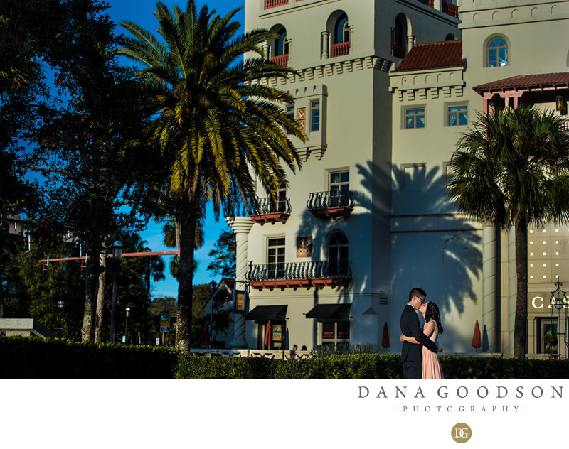 Engagement session in St Augustine Florida by Casa Monica