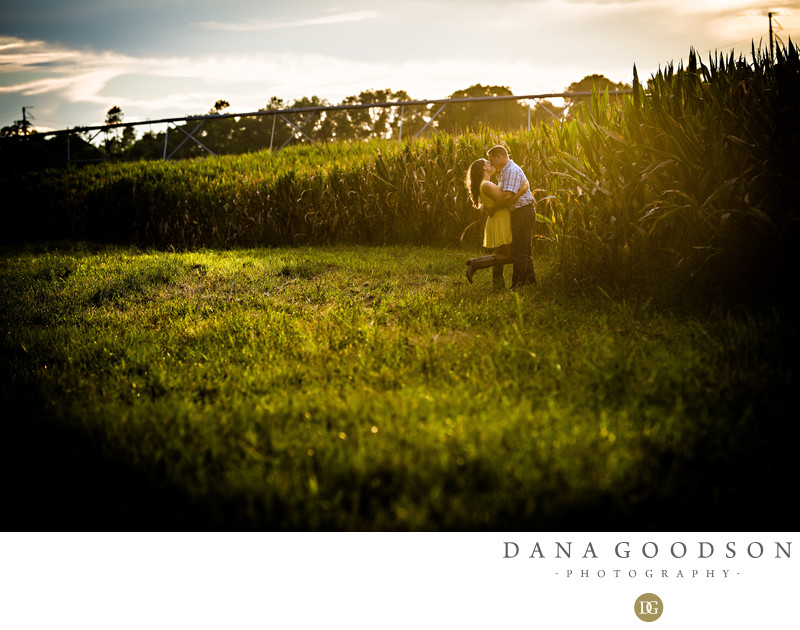 Cornfield Engagement Session in Chiefland Florida