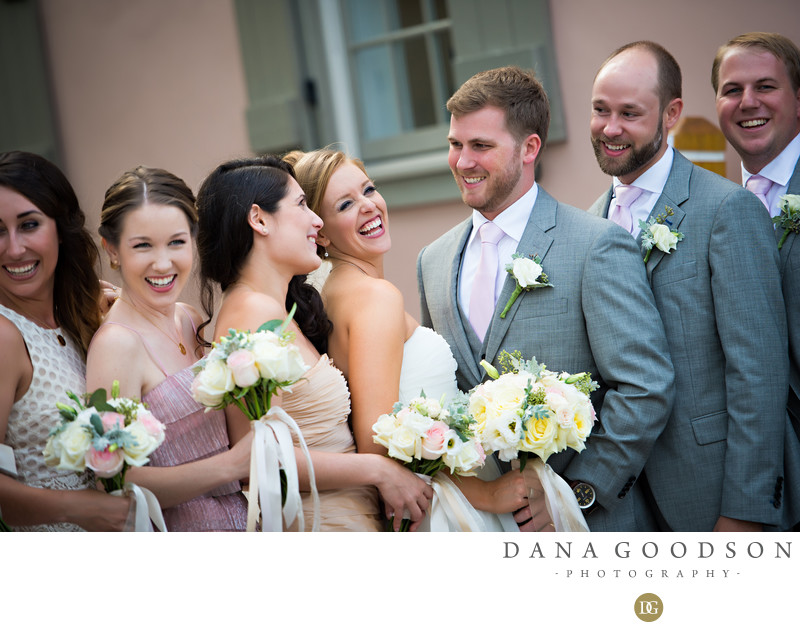 White Room Wedding in St Augustine Bridal Party
