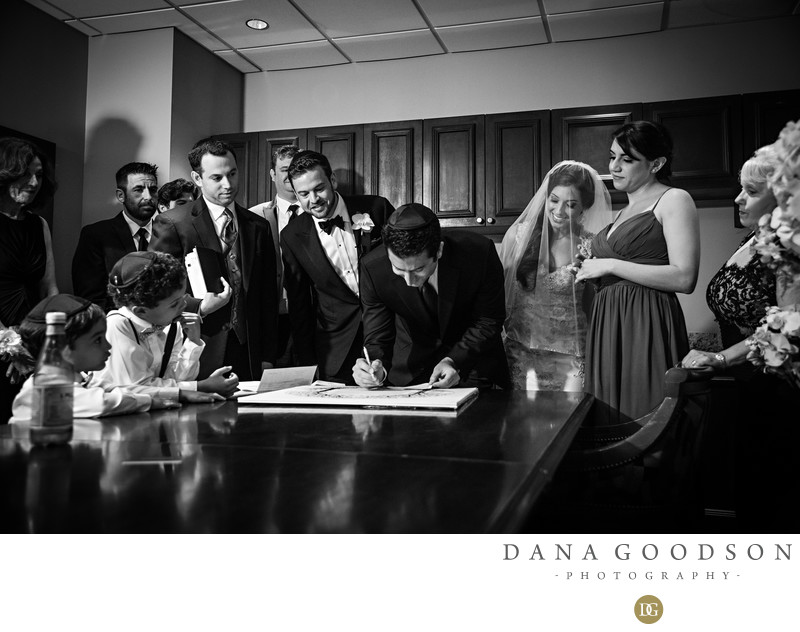 Jewish Wedding Ketubah Signing at TPC Sawgrass Wedding