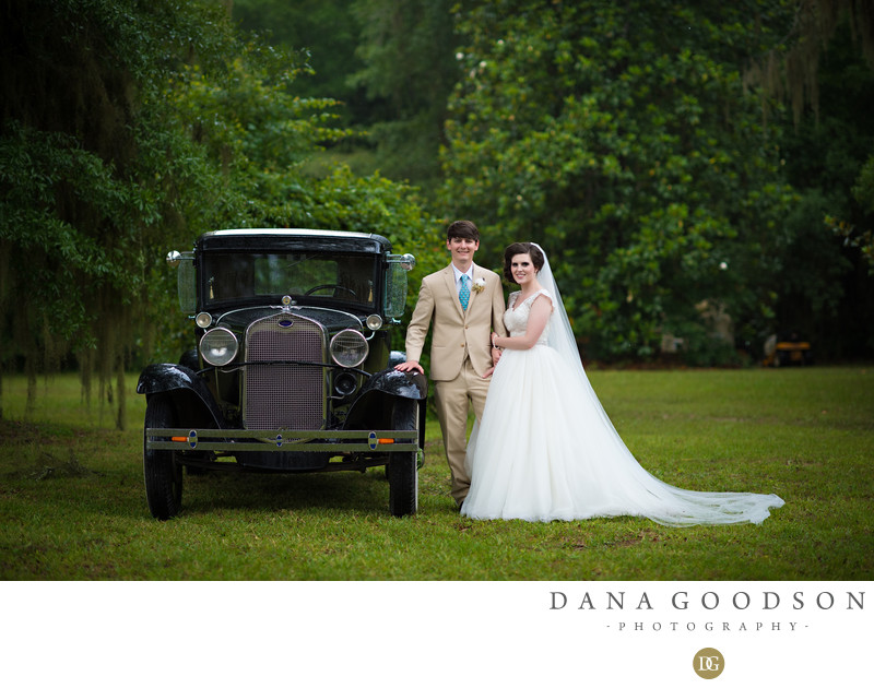 Folkston Wedding at Mizelle House and old car