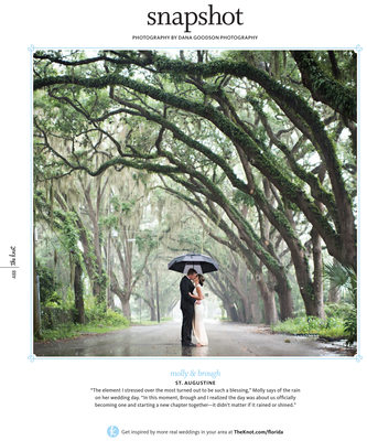 St Augustine Wedding Photographer Published in The Knot