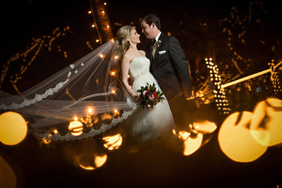 Wedding Photo during Nights of Lights in St Augustine