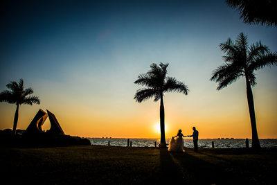 Sunset at Ringling Museum Wedding in Sarasota