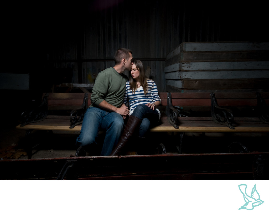 Engagement Session in Barn