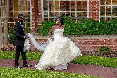 Nigerian bride and groom portraits in Houston