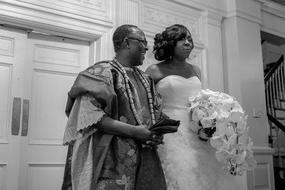 emotional Nigerian bride on wedding day