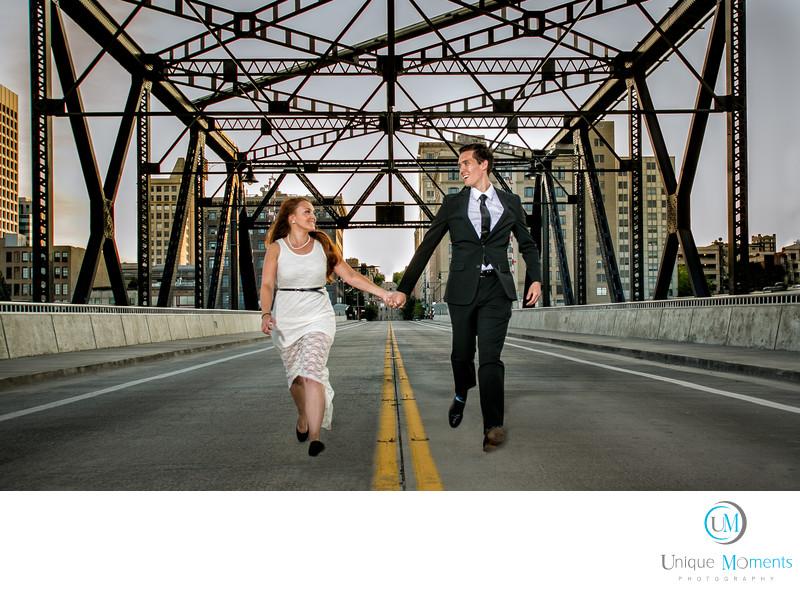 Tacoma Wedding Photographer Murray Morgan Bridge