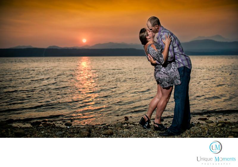 Belfair Wedding Photographer Sunset Portrait