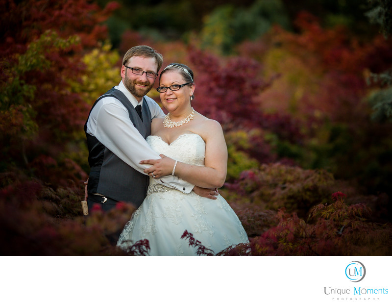 Fall Bridal Portrait at Yangs Botanical Gardens