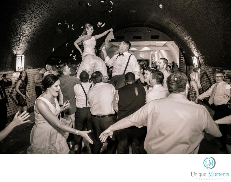 Jewish Wedding Reception Ritual The Hora Gig Harbor WA