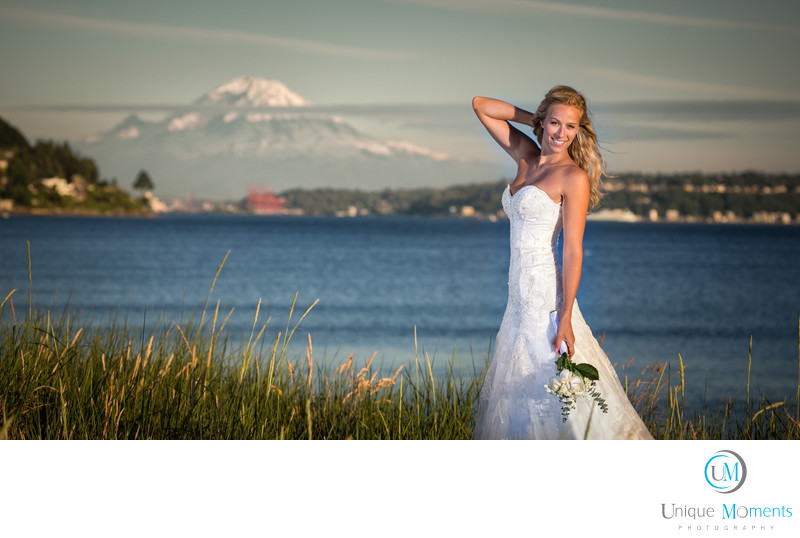 Discovery Park Bridal Portrait Seattle Washington