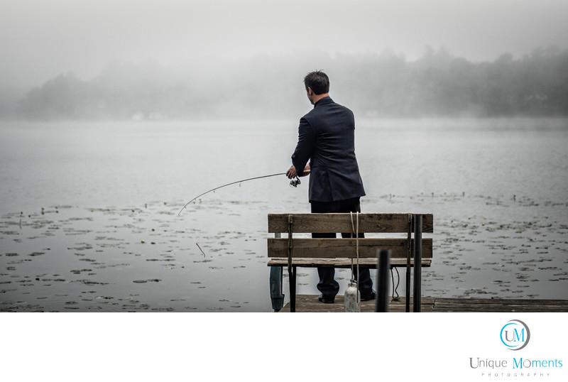 Wedding Photographer Gig Harbor Washington Time to Fish
