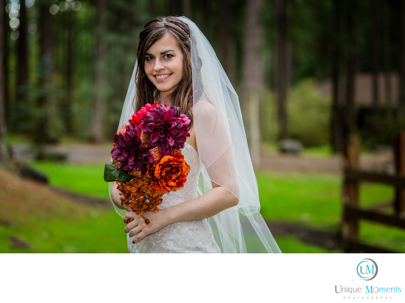 Frontier Park Graham Washington Bridal Portrait