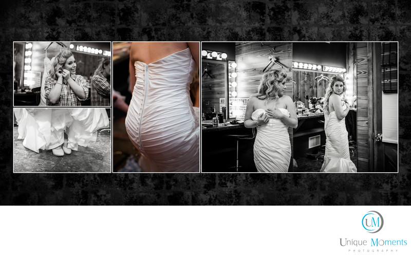 Gig Harbor Wedding photographer Album spread 1 Amy and Eric